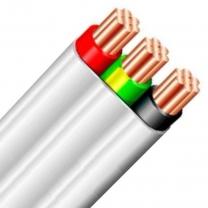 FLAT TWIN & EARTH 2C+E 7/0.67 2.5MM PVC/PVC WHITE 450/750V