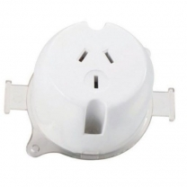 SURFACE SOCKET REAR CONNECT 1G 10A 230V 3PIN WHITE